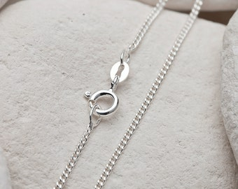 "18"" Sterling Silver Curb Chain (FREE UK SHIPPING)"