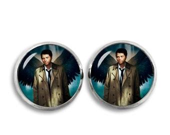 Castiel Supernatural Stud Earrings Castiel Earrings Fandom Jewelry Fangirl Fanboy
