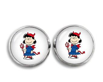 Lucy van Pelt Stud Earrings Lucy van Pelt Earrings Snoopy Fandom Jewelry Cosplay Fangirl Fanboy