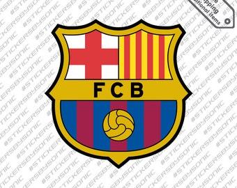 FC Barcelona logo sticker Barca Spain football soccer