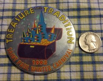 Vintage St Paul Winter Carnival pinback button