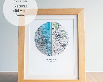 Personalized Map Framed, Personalized Maps Gift, Housewarming Gift, New Home Map Gift, Personalised New Home Gift, Favourite Place Gift