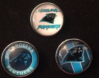 Carolina Panthers 18mm Snaps for all 18mm Interchangeable Snap Jewelry - Take your pick of three - Price is per snap
