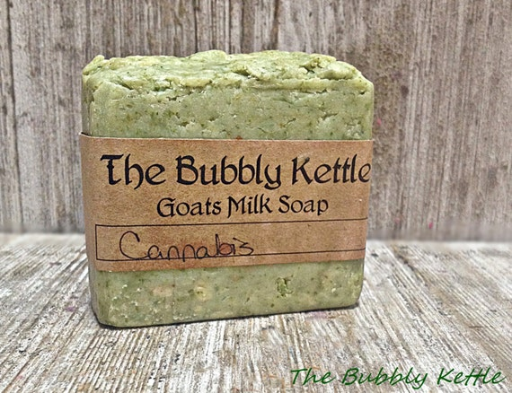 Cannabis Scented Soap,PREORDER FOR FEB 1stGoat Milk Soap, Handmade Soap, Homemade Soap, 420 Soap, Marijuana Scented Soap