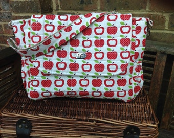 "Handmade baby  changing bag/nappy/diaper  bag ""Apple"" new"