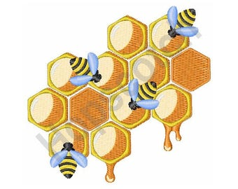 Honey Bees - Machine Embroidery Design
