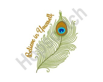 Believe In Yourself - Machine Embroidery Design