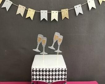 Wine Glass  Cupcake Toppers, Birthday Cupcake Toppers, Wedding cupcake Toppers