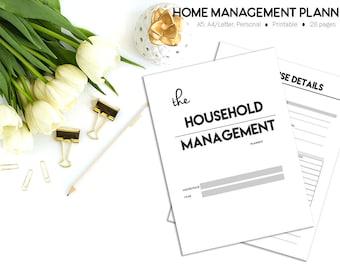 Home Management Binder, Home Organization, Household Planner, Printable Planner, Cleaning Planner, Cleaning Schedule, Household Planning