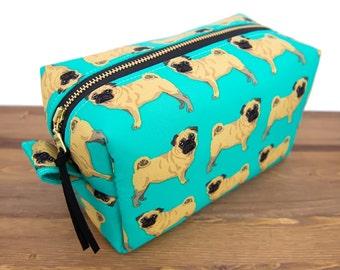 Make Up Bag - Pug Gifts - Large Makeup Bag - Dog Gifts - Makeup Organizer - Makeup Box - Toiletry Bag - Cosmetic Bag - Makeup Brush Bag #12
