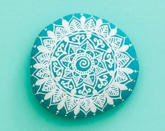 Sacred Mandala Stone 'Turquoise Dream'