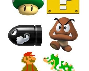 Super Mario Sticker Sheet