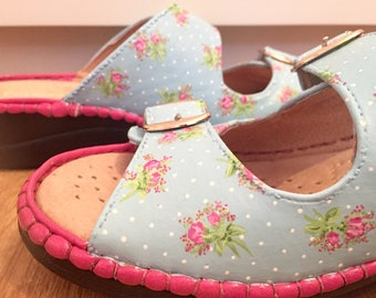 Cath Kidston inspired Mother's Day Hand painted ladies sandals