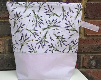 Lavender Zippered Project Bag