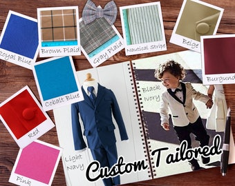 Custom Tailored Toddlers to Boys Slim Fit 5-Piece Suit
