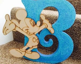 Freestanding Wooden Letters/ Large Glitter Letters/ Disney Letters