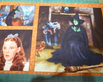 wizard of oz 3 picture fabric panel