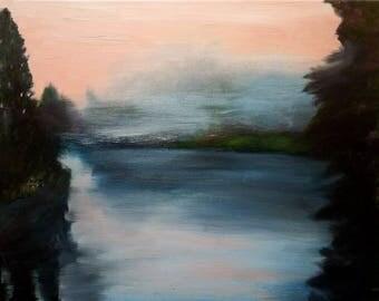 """Oil on canvas """"Fog at dawn"""""""
