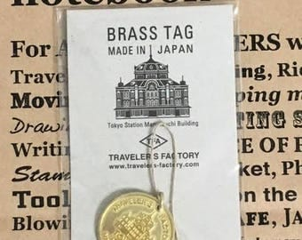 Traveler's Notebook Station Edition Tokyo Marunouchi Building Limited Brass Tag 07100603 MADE IN JAPAN Traveler's Factory Midori Designphil