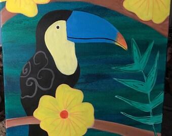 Toucan,Acrylic Painting