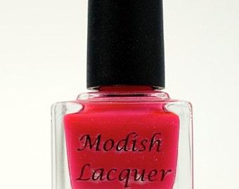 "Neon Pink Nail Polish ""Barbie Doll"""