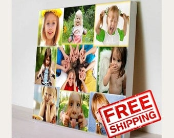 Custom Canvas Prints. Photo Collage.  Photo on canvas. Print on canvas