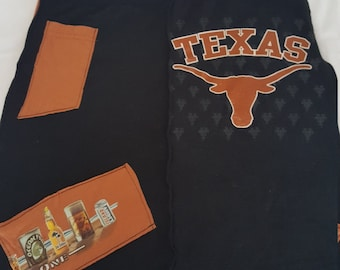 Texas Longhorns UT and beer orannge and black up cycled skirt