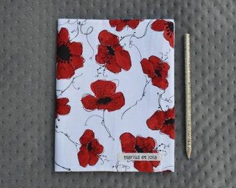 notebook / / address / / journal / / bujo / / handmade / / fabrics / / gift / / poppy / / flowers