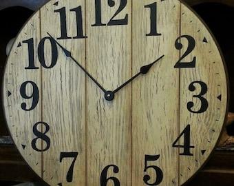 18 Inch Antique Shiplap Look Clock