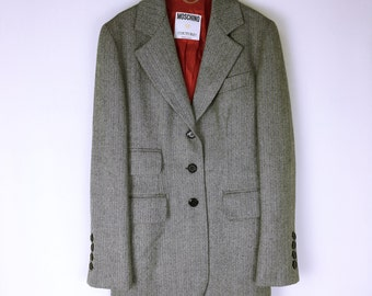 MOSCHINO COUTURE 80's-90's vintage Herringbone Tweed Jacket