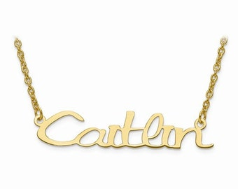 Laser Cut Name Necklace with Chain