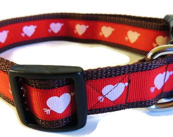 X-Large Glittery Hearts Dog Collar