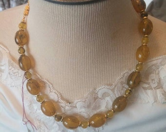 Vintage Beaded Cut Graduated Necklace