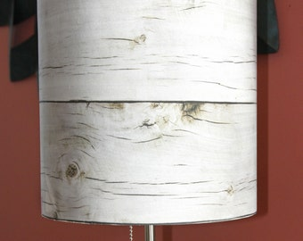 Weathered Wood lampshade, contemporary, lighting, home decor, nature