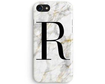Custom name white and yellow marble - iPhone X case, iPhone 8 case, iPhone 8 Plus, iPhone 7 case, Samsung Galaxy Note 8 case 1C189