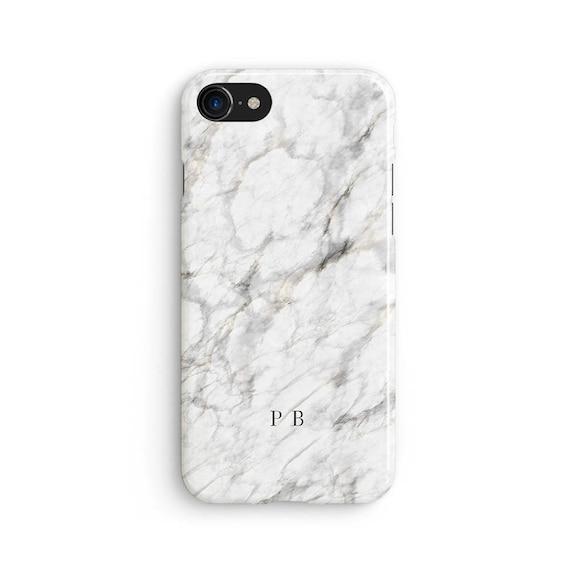 White Marble Name Initials Custom IPhone X Case 8