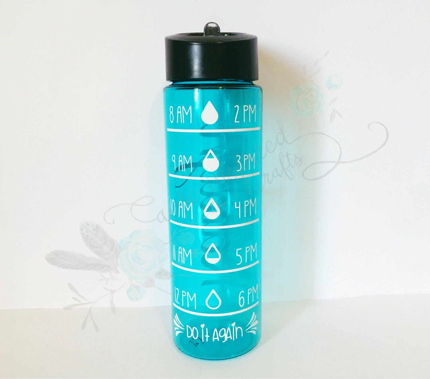 Time tracking water bottle water intake bottle custom water