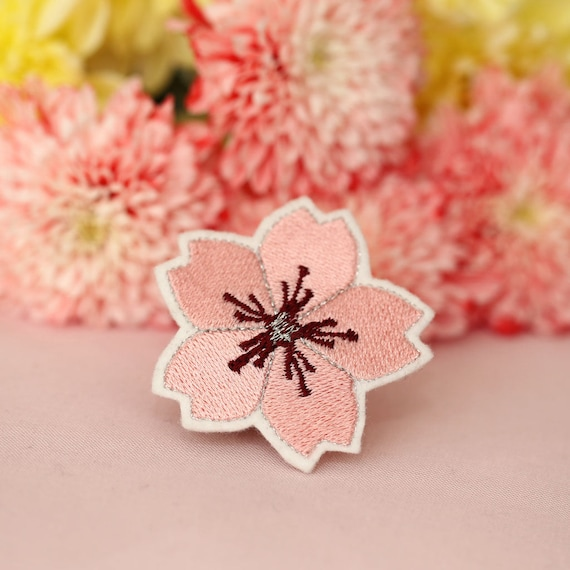 Flower Patch - Embroidery Patch - Cherry Blossom - Sakura - Iron On