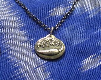 Silver carrot pendant