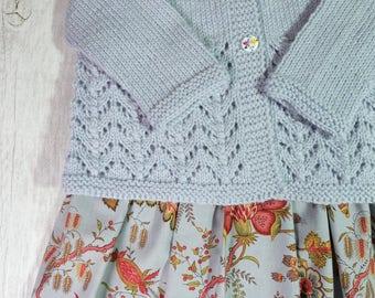 Cardigan - Hand Knitted - Size 1 - Australian Merino Wool