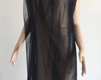 Black sheer dress.Sheer short dress.See through dress.Sleeveless sheer dress.Sheer mesh dress.Transparent dress.Bridesmaid sheer dress.