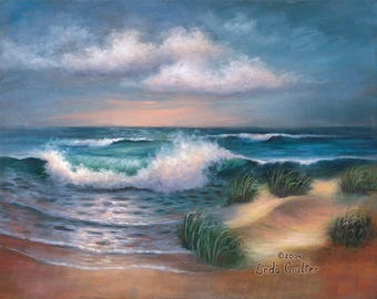 NEW! Beach Scene - Paint Your Own Masterpiece on STRETCHED Canvas-11 X 14-Acrylic Paint
