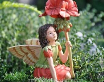 Miniature Dollhouse FAIRY GARDEN ~ Cicely Mary Barker Geranium Fairy