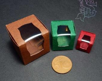 10 pieces  Miniature Boxes ~ Dollhouse Display - DIY miniature Box