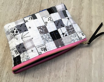 Cosmetic bag - zipper pouch  - toiletry bag - periodic table of elements print - science lover's gift - travel bag