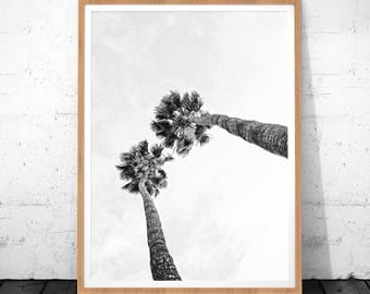 Palm Print, Palm Tree Print, Black And White Palm, Tropical Wall Art, Palm Tree Printable Poster, Palm Tree Poster, Palm Tree Art, Poster