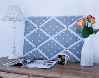 Grey & White Spots Pinboard