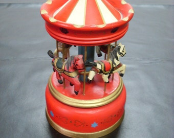 Vintage Carousel Music Box
