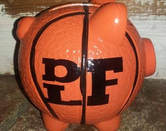 Personalized sports bank, piggy bank, personalized piggy bank, personalized newborn gift, sports fan gift, custom piggy bank, custom bank