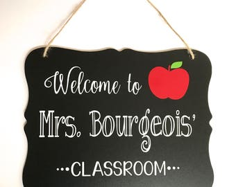 Teacher Graduation Gift, Teacher Gift, Gift for Teacher, Personalized Teacher Sign, Teacher Name Sign, Last Day of School Gift